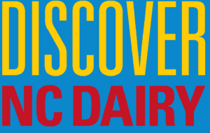 Discover NC Dairy blue background