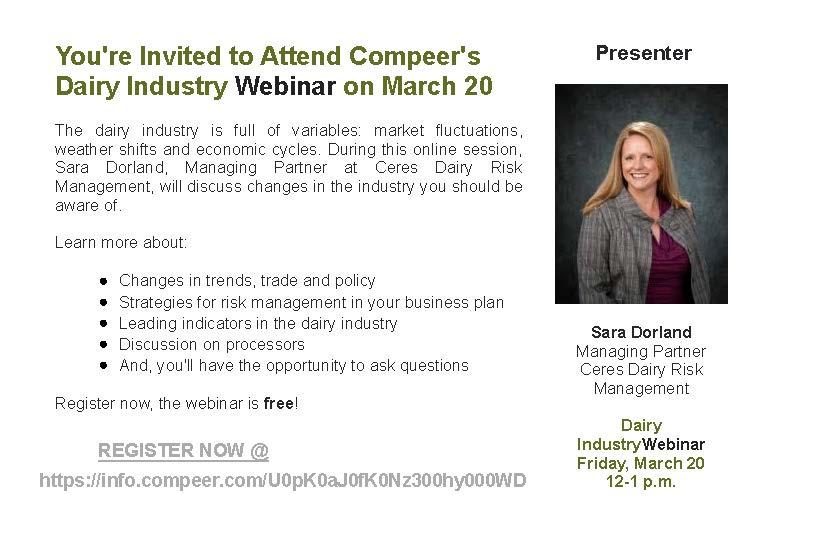 Dairy Industry Webinar