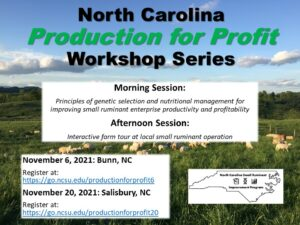 Cover photo for North Carolina Production for Profit Workshop Series